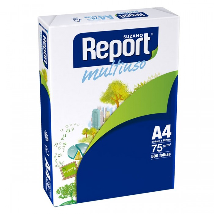 Papel Sulfite Report A4 Branco 75G Pacote 500 folhas