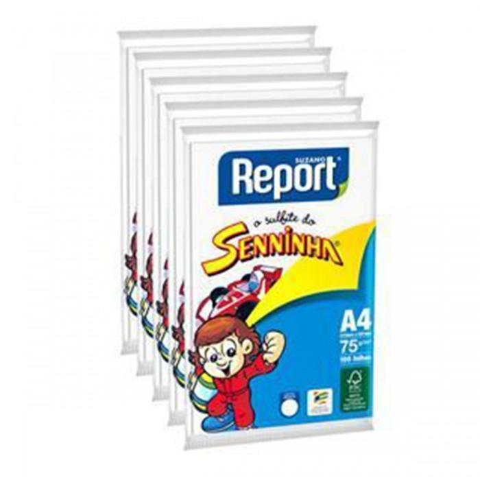 Papel Sulfite Report Seninha Branco A4 Pacote 2500 folhas