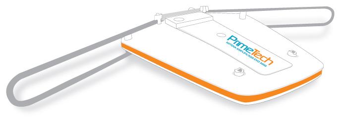 Antena Prime Tech Evo 3000 - 4x1 (UHF ? VHF ? FM ? Digital), Sinal Digital / Analógico, c/ Booster (Cod: 6862)