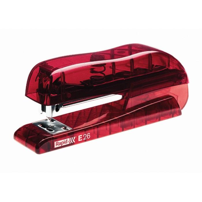 Grampeador Rapid E26 Cor Vermelho Grampeia até 20 Folhas 14991
