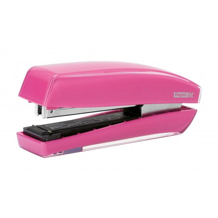 Grampeador Rapid Freeze - Cor: Rosa, Grampeia até 30 folhas 60539