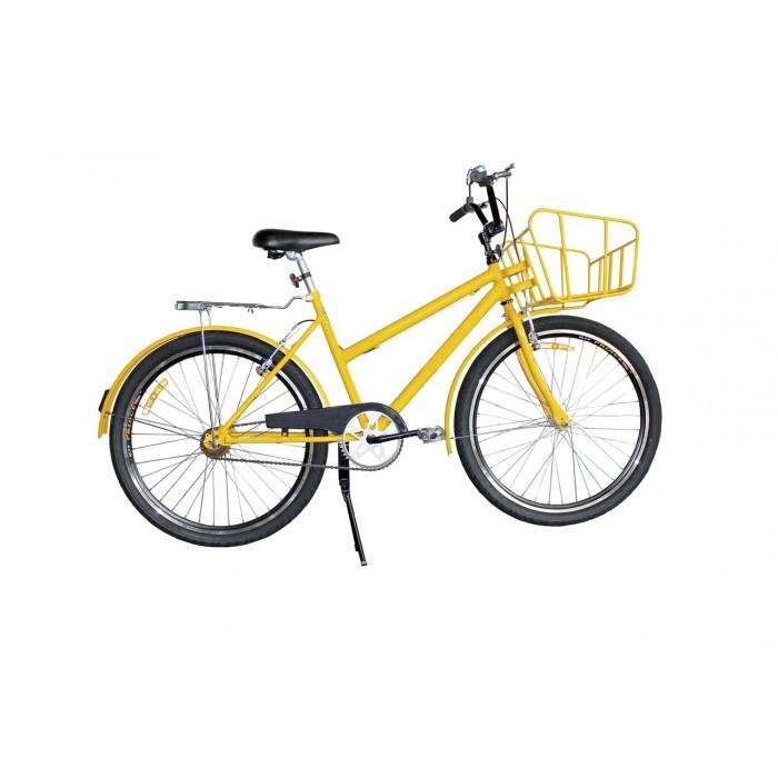 Bicicleta Prince Carga Pesada Cargueira - Cor: Amarelo