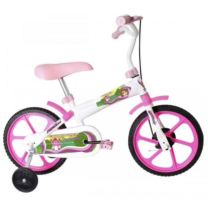 Bicicleta Prince T12 Princesa - Aro12, Cor: Rosa e Branco