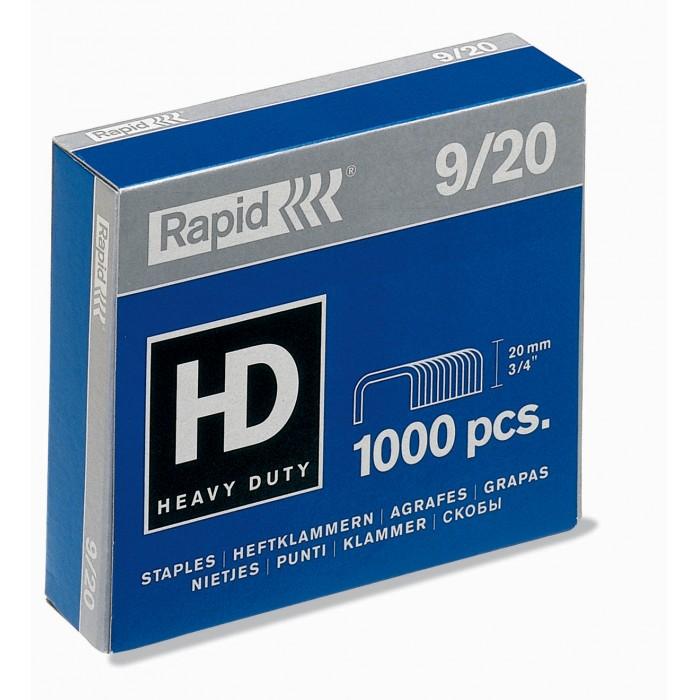 Grampos Rapid Heavy Duty Nº 9 - 9/20, Caixa com 1000 grampos 14137