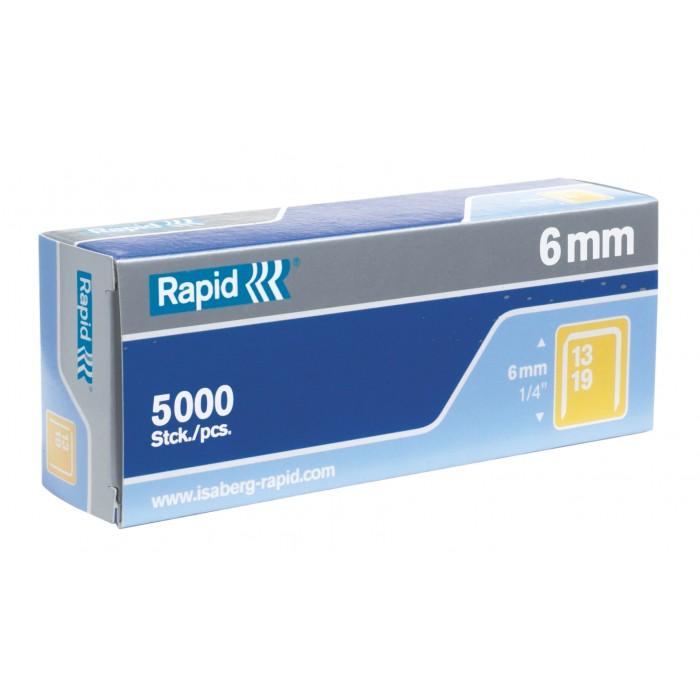 (FORA DE LINHA) Grampos Rapid Nº13 - 6mm, Caixa com 5000 grampos