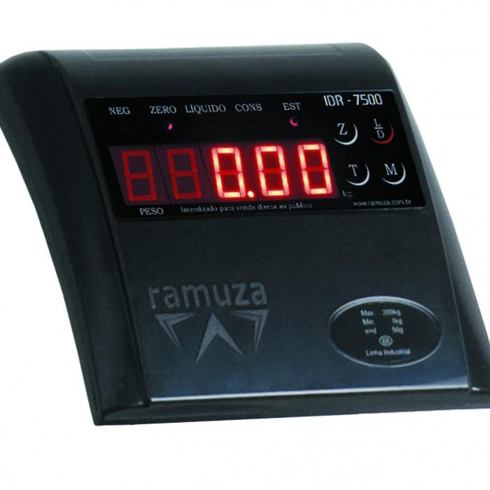 Balança Ramuza Fitness 200kg x 50g Plataforma 40x40cm Preto Bivolt 4004