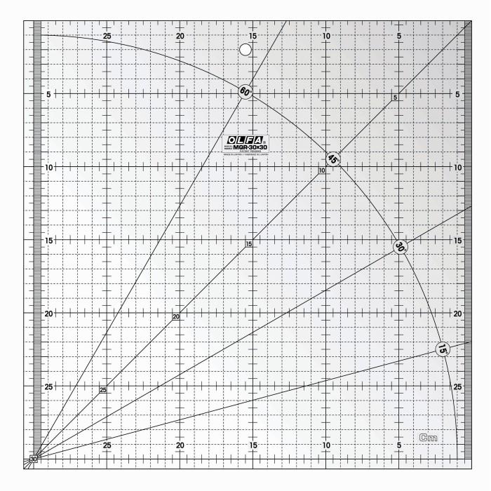 RÉGUA MQR OLFA-30X30CM 14024