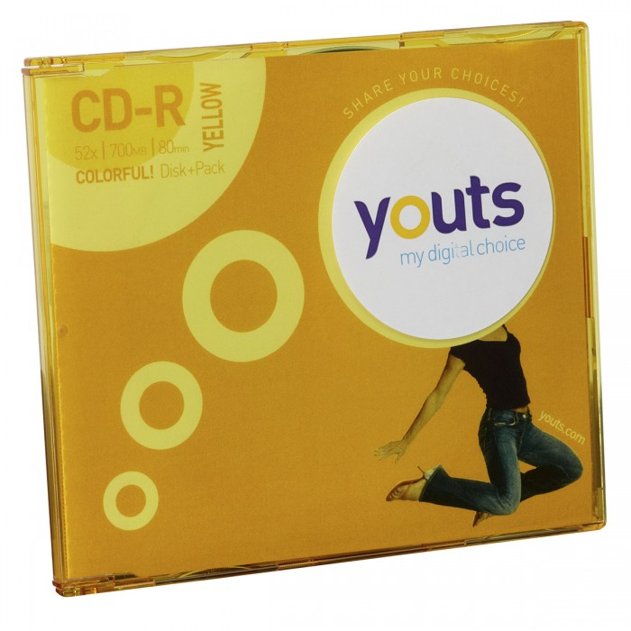 CD-R Youts Slim Colorful Yellow