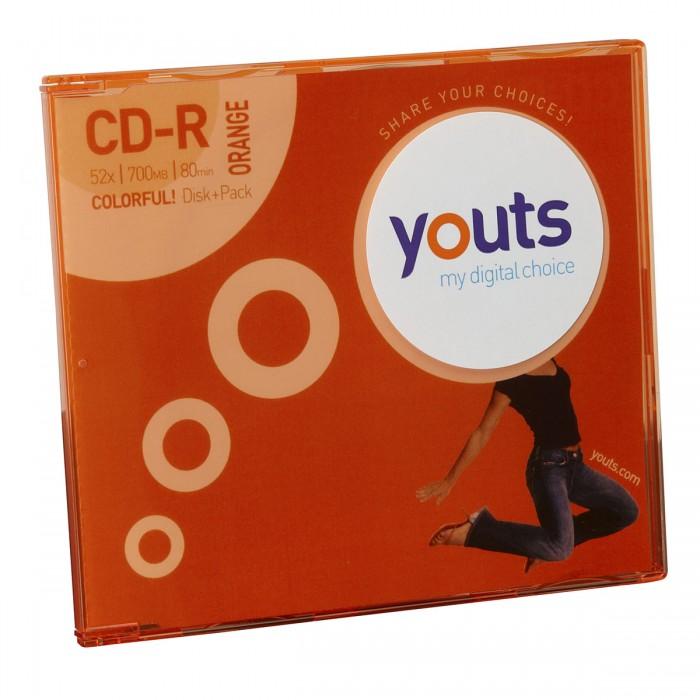 CD-R Youts Slim Colorful Orange