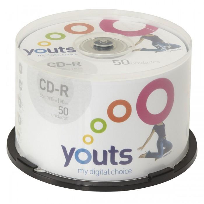 CD-R Youts Printable White - Cake com 50 discos