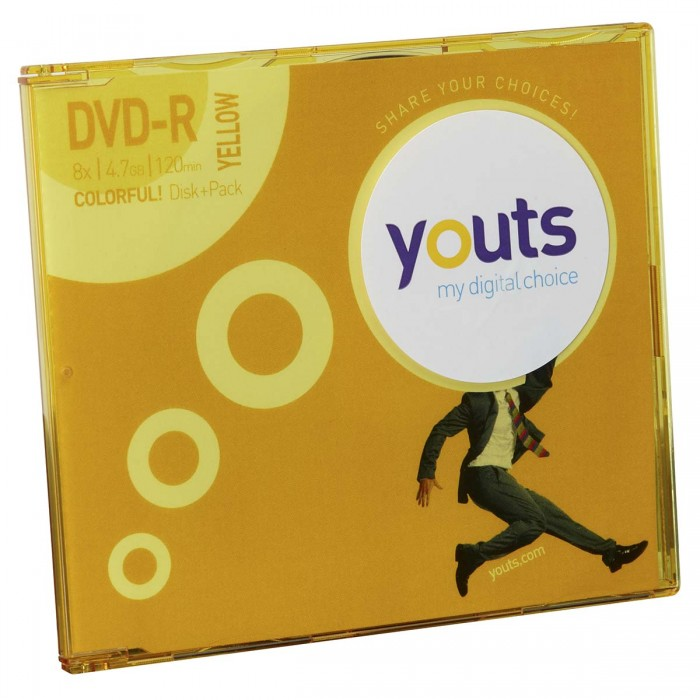 DVD-R Youts Slim Colorful Yellow