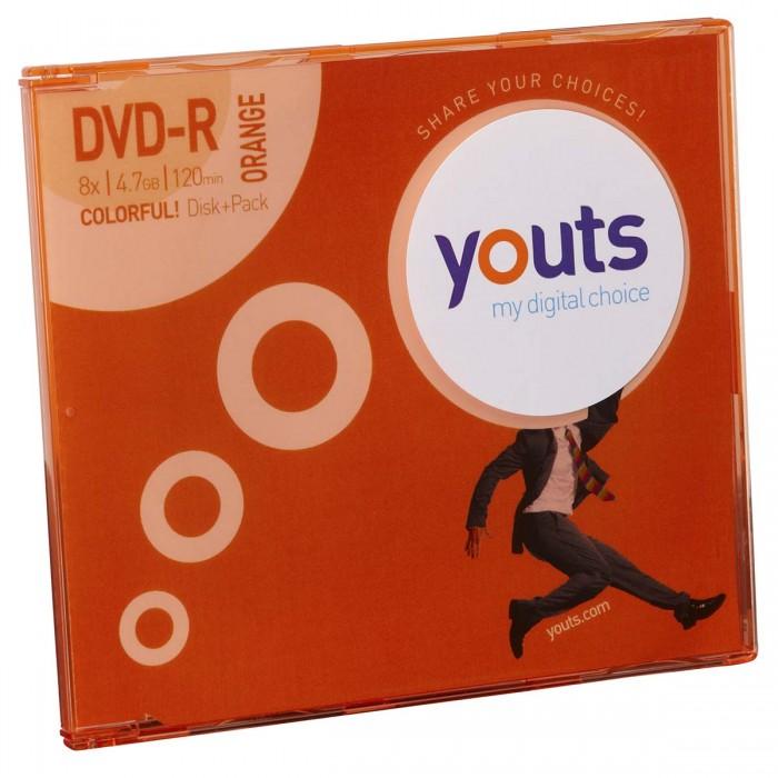 DVD-R Youts Slim Colorful Orange