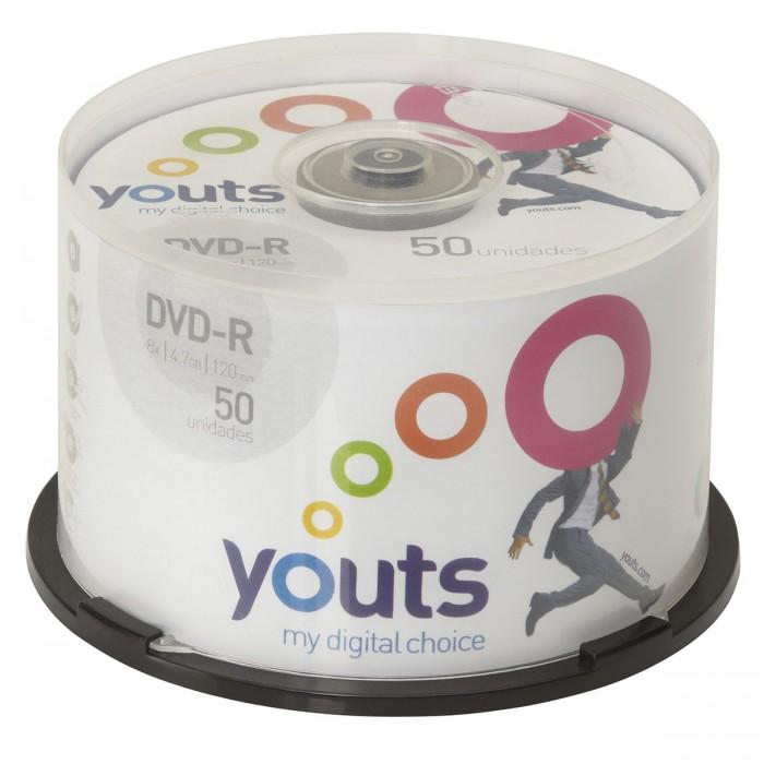 DVD-R Youts Printable White Cake com 50 discos
