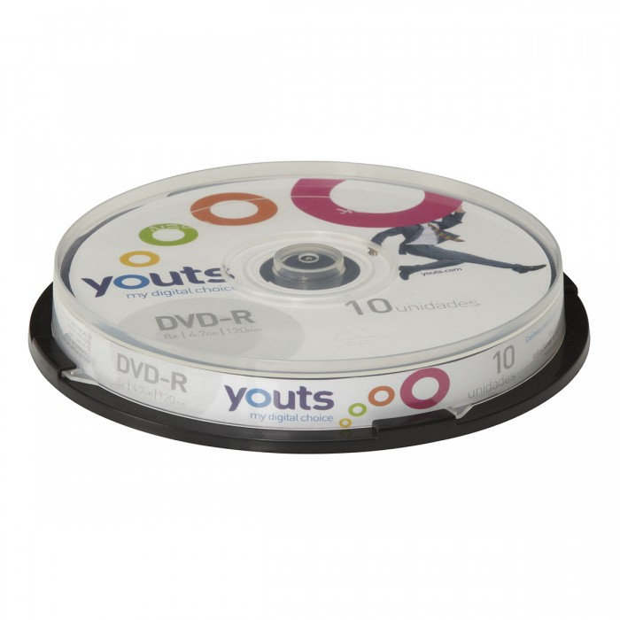 DVD-R Youts Color Label Cake com 10 discos