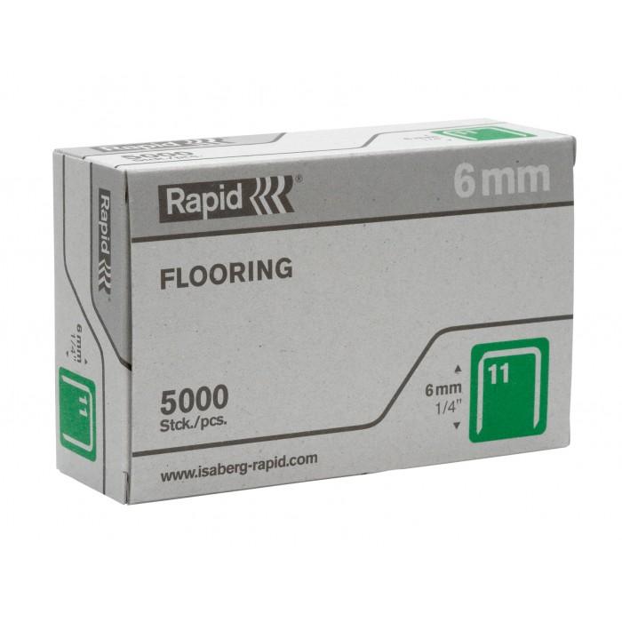Grampos Rapid Nº11 6mm para R19 Esco 19 Cx. com 5.000 Unids