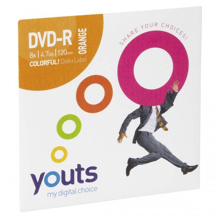 DVD-R Youts Envelope Colorful Orange