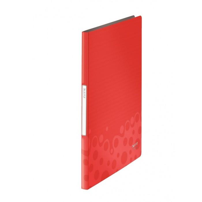Pasta Catálogo Esselte Leitz Bebop 40 bolsas Vermelha 63505