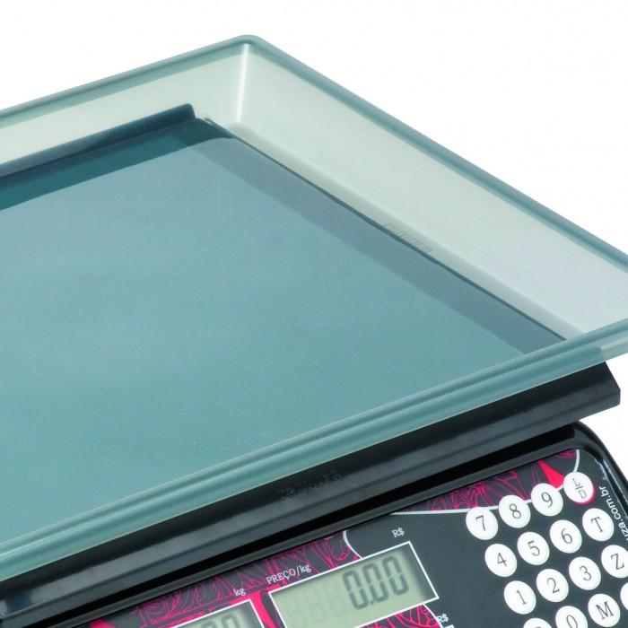 Balança Comercial Computadora Ramuza DCR 15kg x 5g Preta Led Vermelho Bivolt 1034