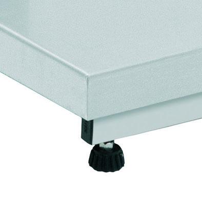 Balança Industrial Plataforma Digital de Aço Inox 304 Ramuza Capacidade de 300Kg base de 50x50cm IDR de ABS Sem Bateria