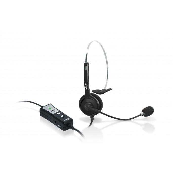 Headset Cygnus Voice Unixtron - (1/2 cabo) qd para conexão com interface USB