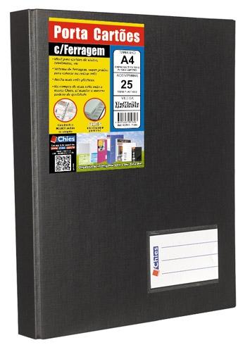 Porta Cartões Chies com Ferragem Jumbo Preto1328-1