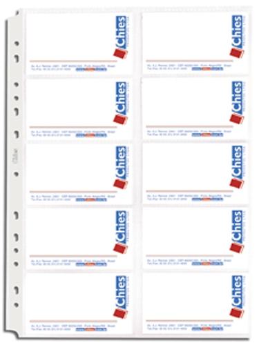Refil Porta Cartões Chies Jumbo com Aderência Cristal Liso 10 Unid 1694-7