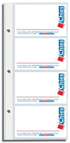 Refil Porta Cartões Chies Executivo c/ aderência - Cristal Liso - Ref.: 1409-7