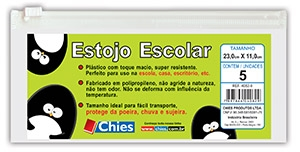 Pasta Chies Zip Bag Necessaire/Estojo Pcte com 5 Unid 4082-9