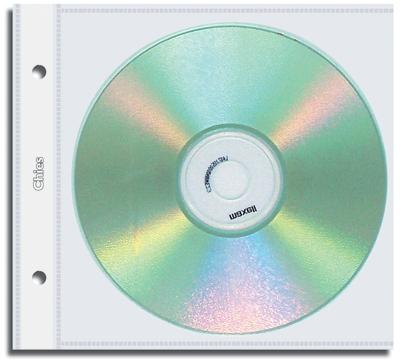 Refil para Cd Individual Chies com 2 Furos de Arquivo Cristal Gofrado 1700-5