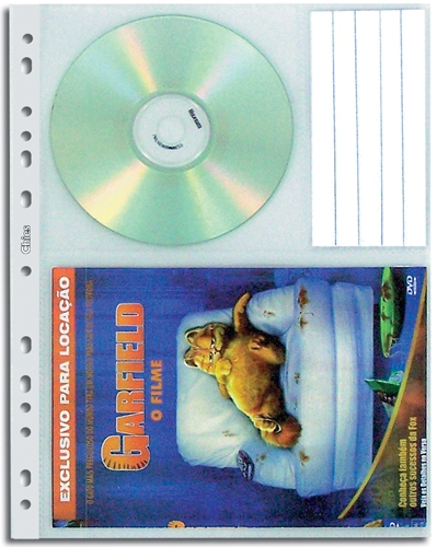 Refil Protetor de DVDs Chies Cristal Gofrado 1411-0 Pacote com 10 unidades