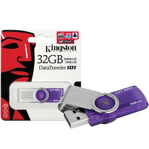 PEN DRIVE KINGSTON 32GB DT101G2 ROXO USB 2.0 BOX