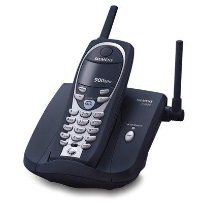 Telefone sem fio Gigaset A5000 Preto- Frequência de 900 mhz, 40 canais