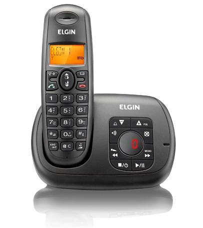 Telefone sem Fio Elgin com Secretária Eletrônica TSF-700SE Preto