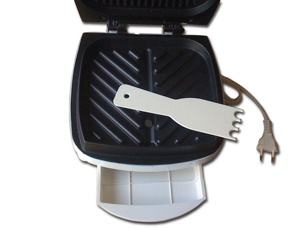 Grill Suzuki SZ-8015 Branco Placa antiaderente, Luz indicadora de energia, Bandeja Coletora de Gordura, Espátula p/ Limpeza, 700W, 220V