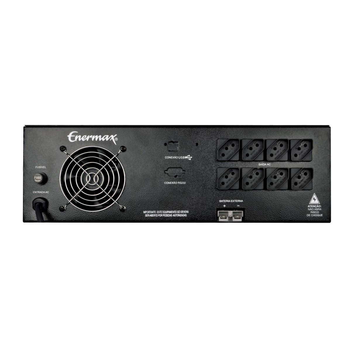 Nobreak Senoidal Magic Power II Enermax 800va Bivolt Automático S. 115v Rack USB