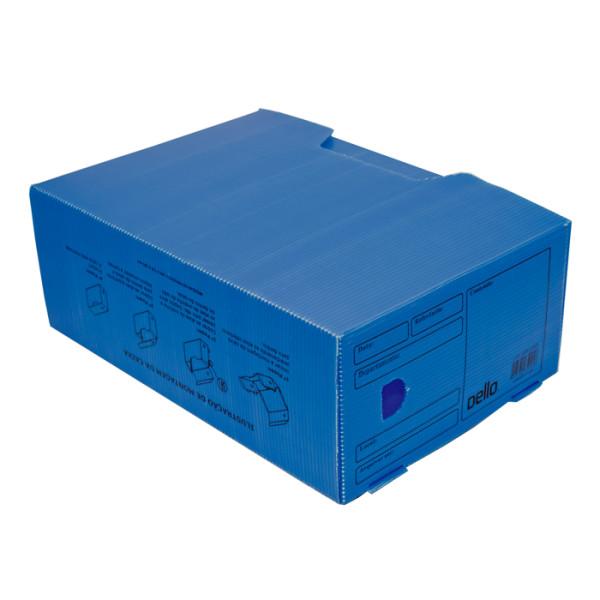 Caixa De Arquivo Morto Oficio Polidello DELLO Azul 0326 C/25 Unid.