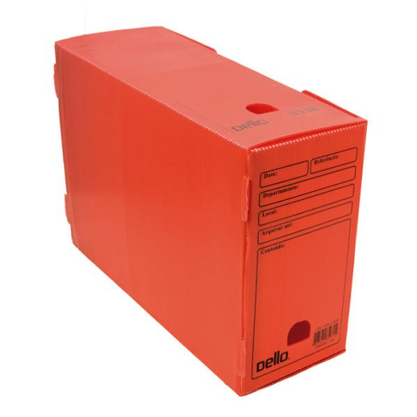 Caixa de Arquivo Morto Oficio Polidello Dello Vermelho 0326 Com 25 Unidades