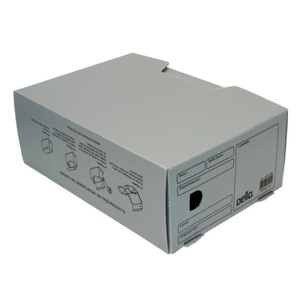 Caixa de Arquivo Morto Oficio Polidello Dello Cinza 0326 Com 25 Unidades