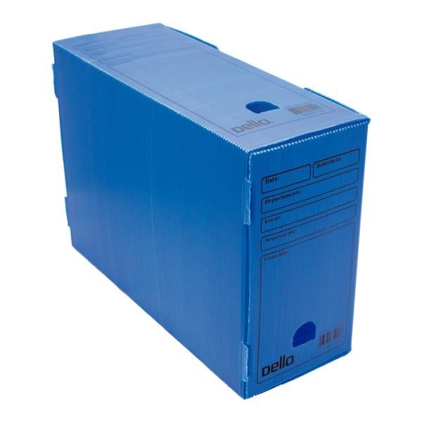 Caixa de Arquivo Morto Oficio Polidello Dello Azul 0326