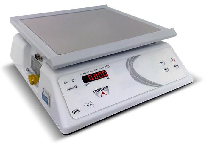 Balança Comercial Pesadora Ramuza DPRB 6Kg x 2g Bateria Led Bivolt Branca 1024