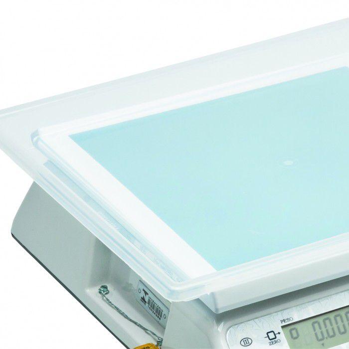 Balança Comercial Ramuza DCRBCL 30kg x 10g LCD com Bateria 100H Bivolt Branca 1003