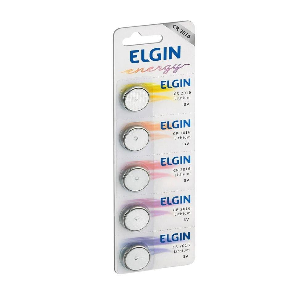 Bateria de Lithium Elgin 3V Cr2016 Cartela com 5