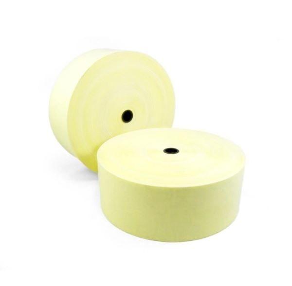Bobina De Papel Térmico Amarelo para Relógio De Ponto Medida 57mm x 300m Caixa Com 4 Unidades