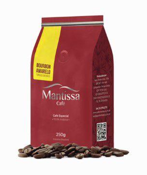 Café em Grãos Mantissa Bourbon Amarelo  250g Torra média BSCA 84 Pontos