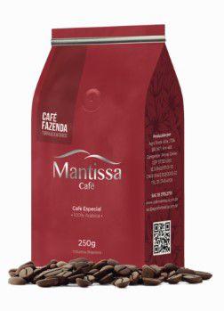 Café em Grãos Mantissa Fazenda 250g Torra média BSCA 84 Pontos Blend Arabica