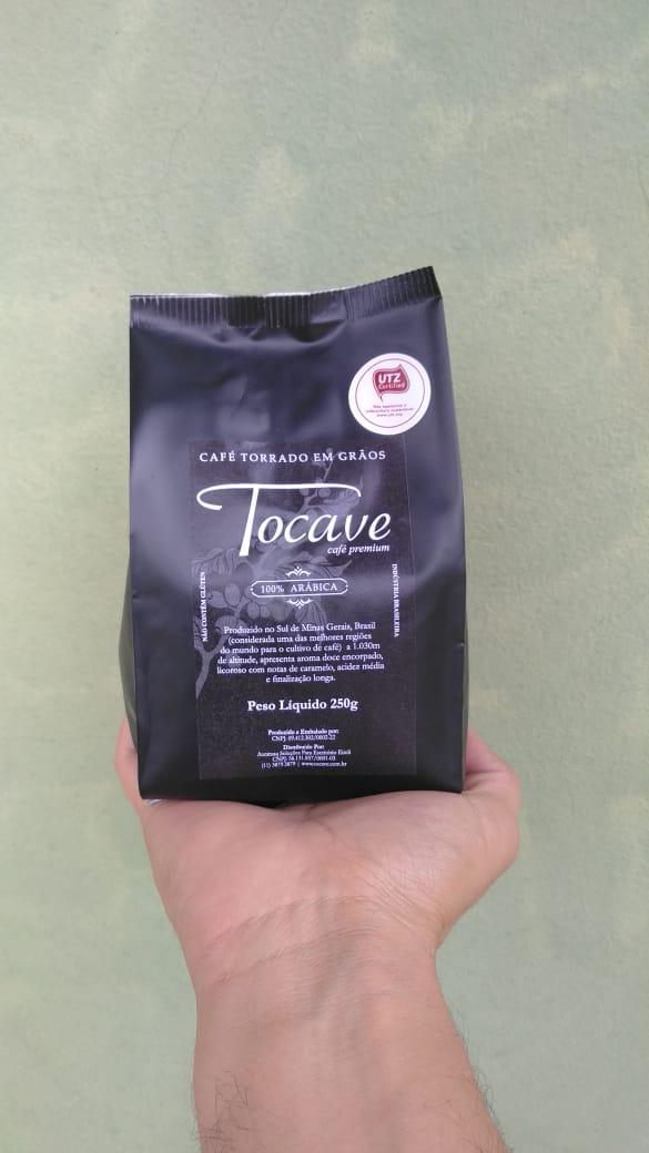 Café em Grãos Tocave Premium 1250g (5 pacotes com 250g) Arábica com Torra Média