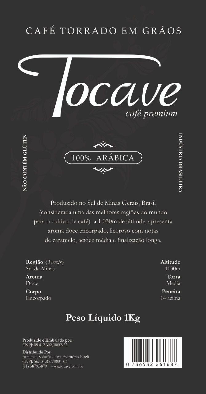 Café em Grãos Tocave Premium 1kg Arábica com Torra Média