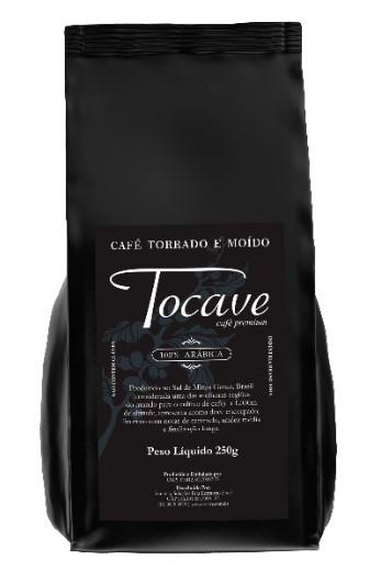Café torrado moído Tocave Premium 250g Arábica com Torra Média