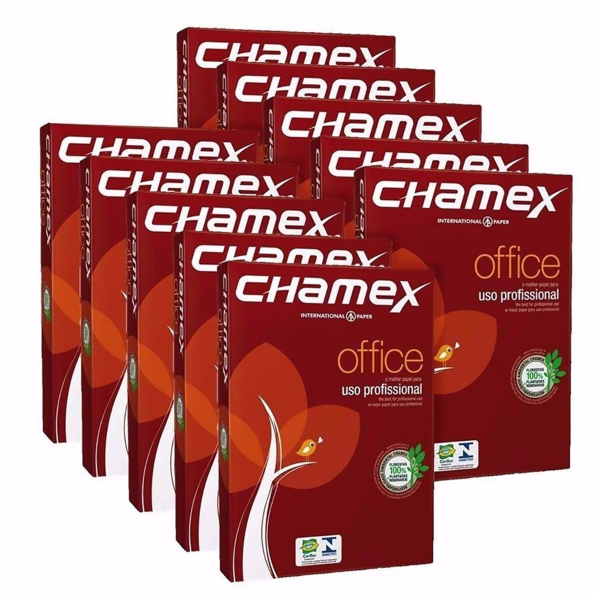 Caixa De Papel Sulfite A4 Chamex 5000 Folhas 75gm²