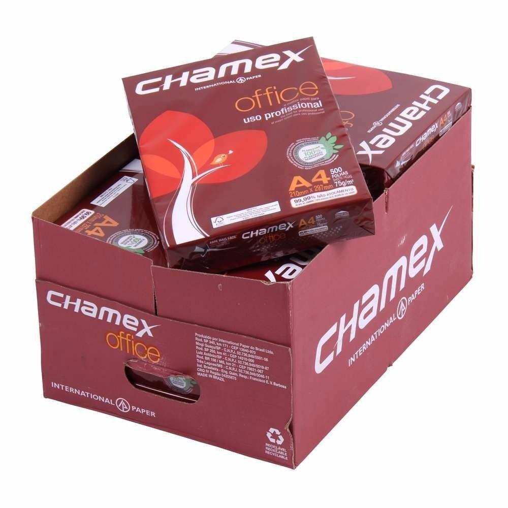 Caixa de Papel Sulfite A4 Branco Chamex caixa 5000 Folhas 75g